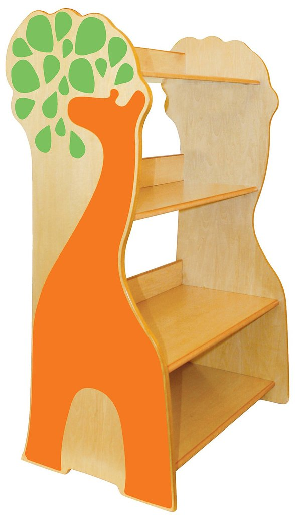 Here's a happy P'kolino  giraffe bookcase ($225) ready to help your tot put away her books. And it has a playful but sophisticated design that will grow with your little one.