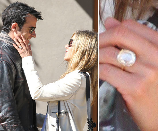 Jennifer Aniston debuted her engagement ring from Justin ...