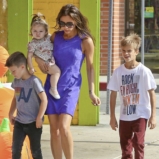 The Beckham Family Shops For Halloween Costumes