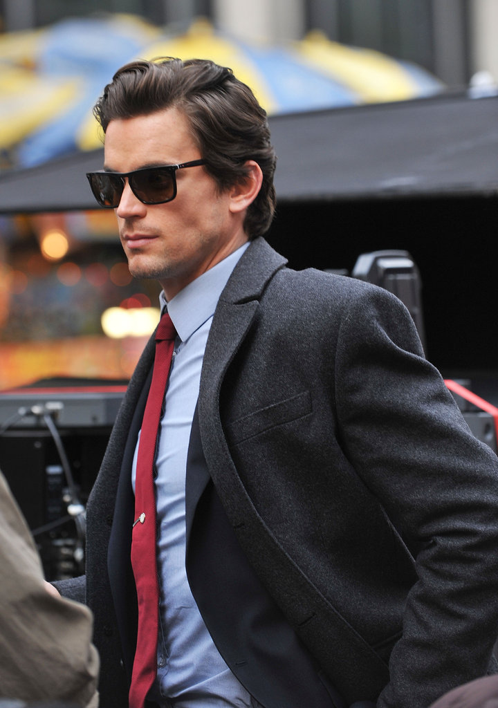 Camera Ready Matt Bomer Arrived In A Suit And Sunglasses