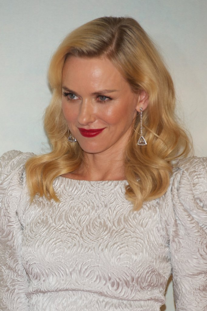 Naomi Watts wore white in Madrid.