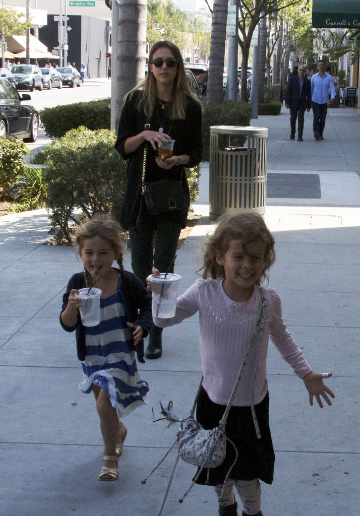 Jessica Alba watched over Honor and a little friend in LA.