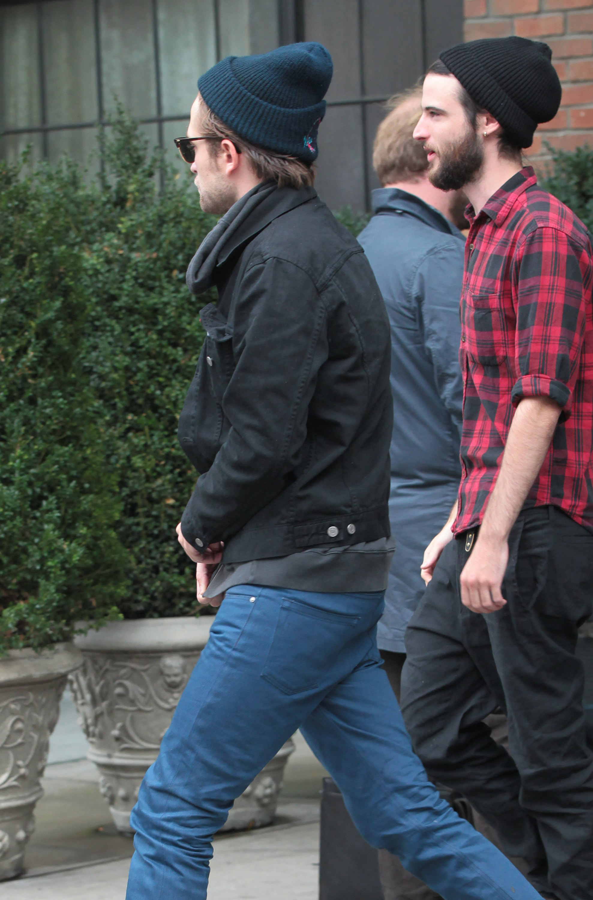 Robert Pattinson and Tom Sturridge left the Bowery Hotel after spending some time together in the afternoon.