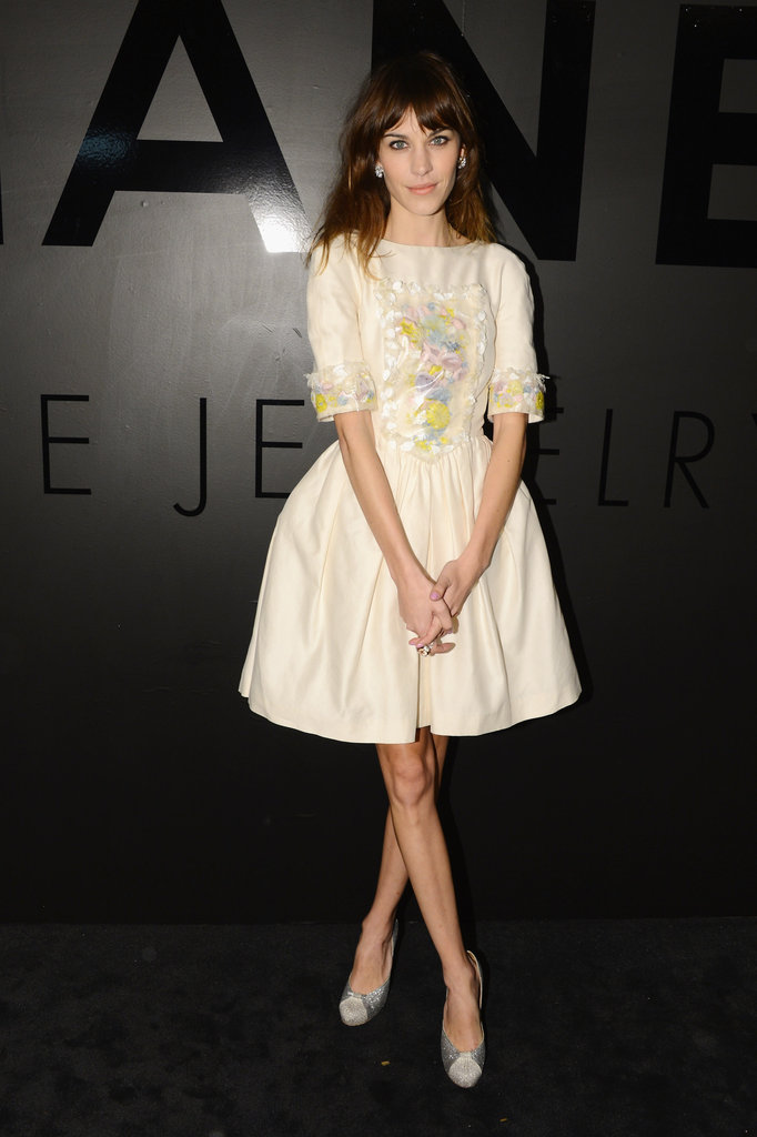 Alexa Chung posed in Chanel.