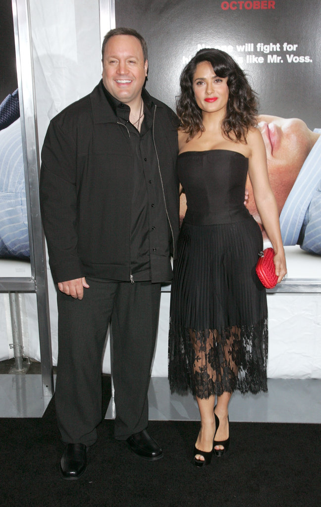 Salma Hayek and Kevin James stood next to each other for a photo.
