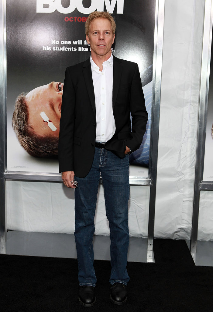 Greg Germann dressed up jeans with a blazer at the event.