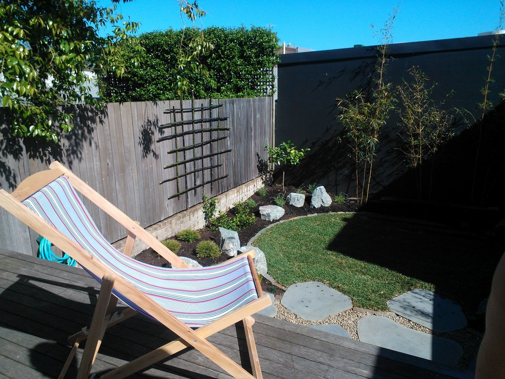 No garden's complete without a striped deck chair, right?