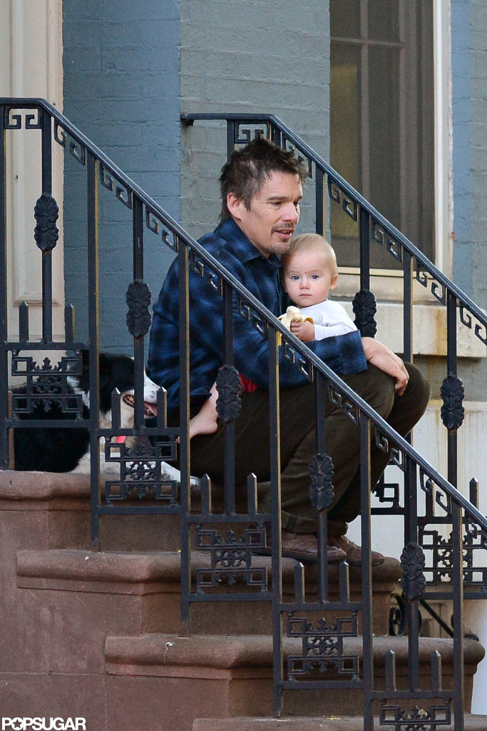 Ethan Hawke spent some time outside in NYC.