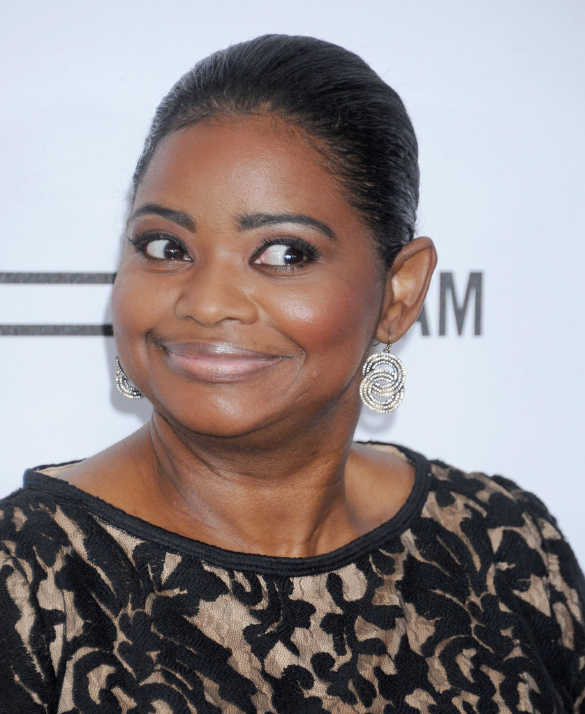 Octavia Spencer wore a printed dress at the event in LA.