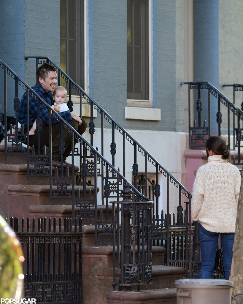 Katie Holmes and Ethan Hawke chatted in NYC.