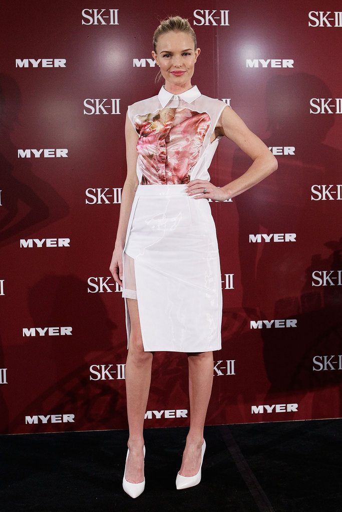 Kate Bosworth posed at a promotional event for her skin care line, SK-II, in Sydney.