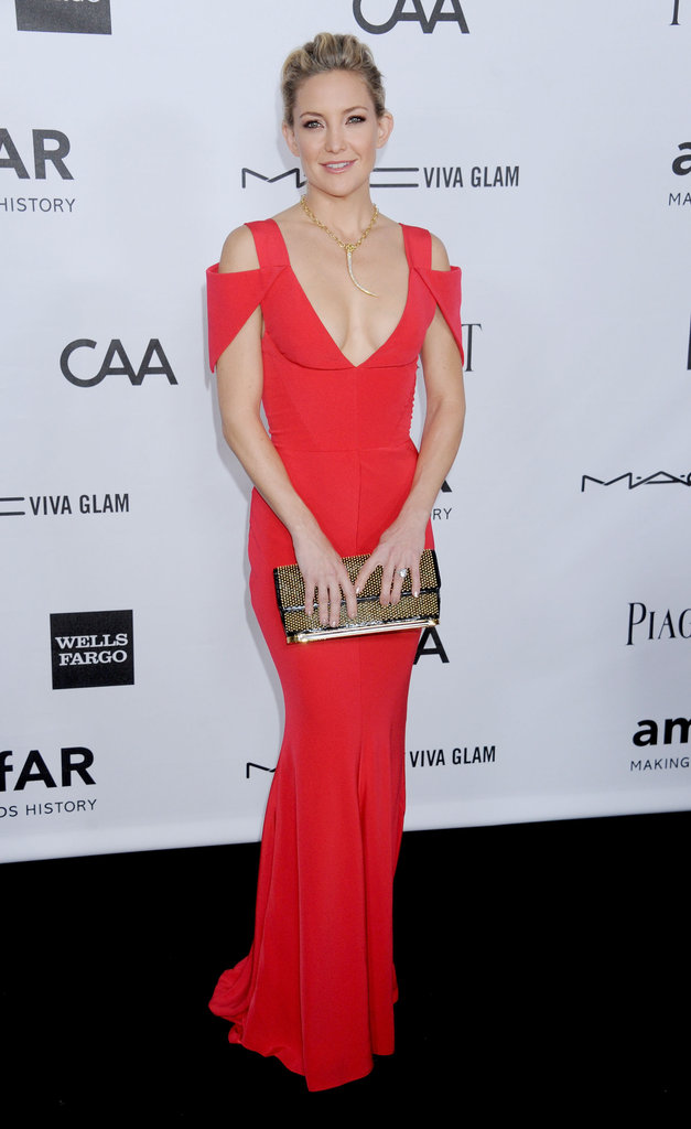 Kate Hudson wore a red dress for the event in LA.