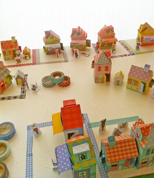 A Washi Tape Village