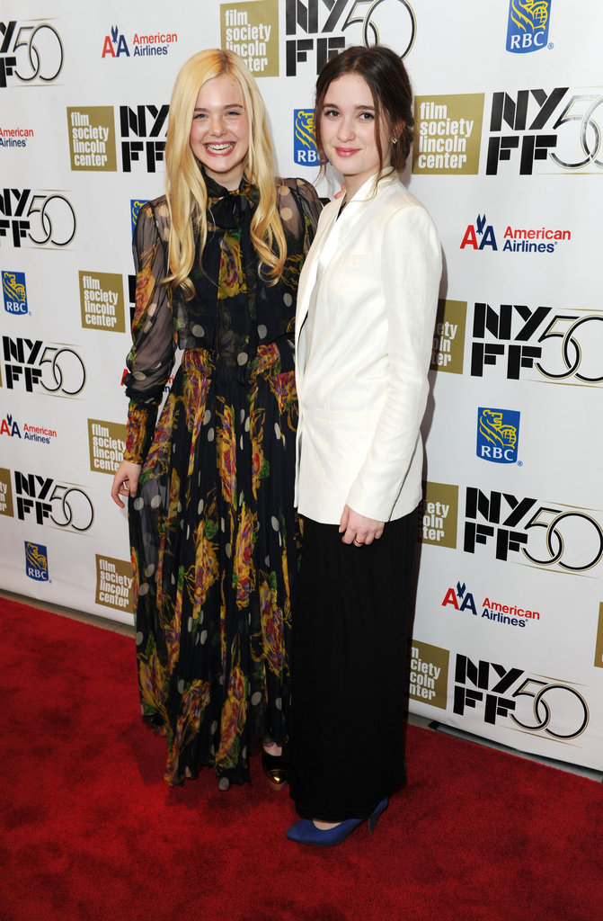 Elle Fanning and Alice Englert hit the red carpet at the premiere of Ginger and Rosa at the 50th New York Film Festival on October 8.