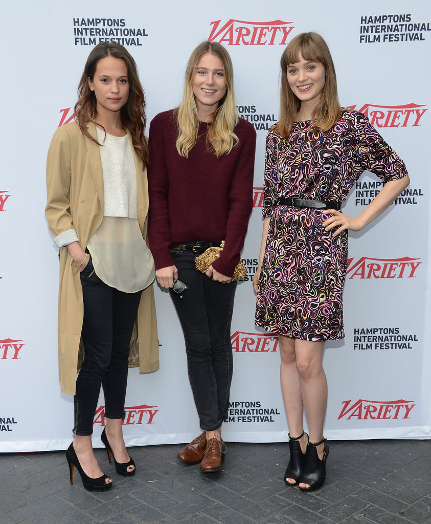 Alicia Vikander, Dree Hemingway and Aussie actress Bella Heathcote attended the Variety Performers Brunch in the Hamptons on October 7.