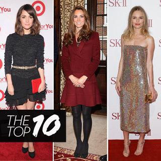 Top Ten Best Dressed Celebrity Looks This Week: Alexa Chung, Kate Middleton, Kate Bosworth, Alessandra, Rose Byrne & More