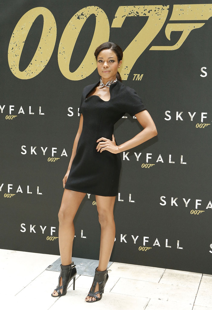 Naomie Harris promoted Skyfall in NYC.