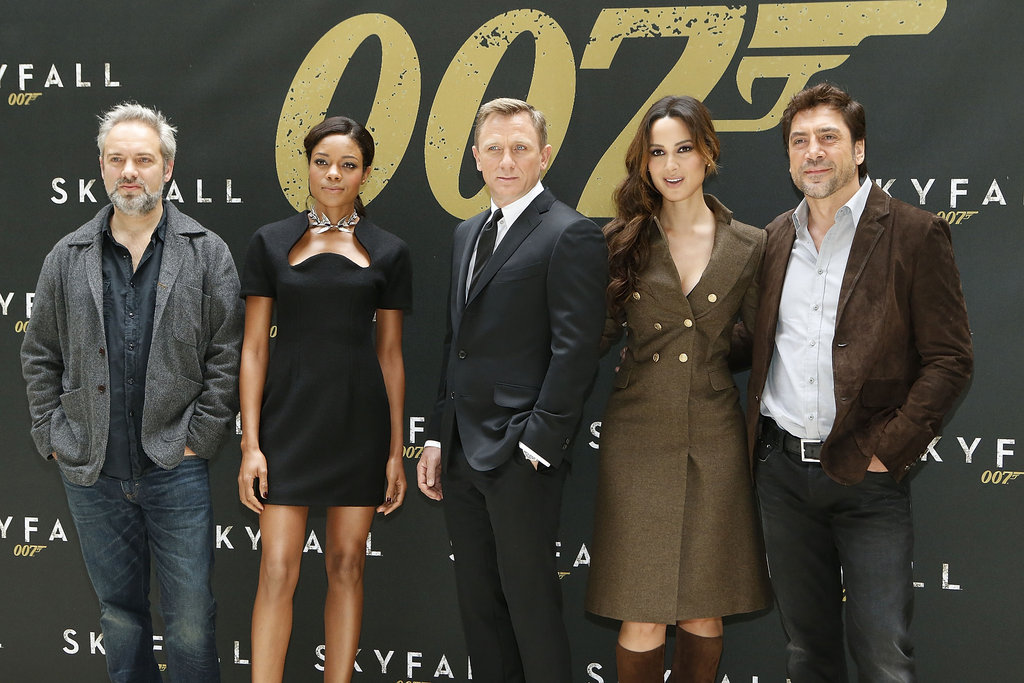Director Sam Mendes and the cast of Skyfall promoted their movie in NYC.