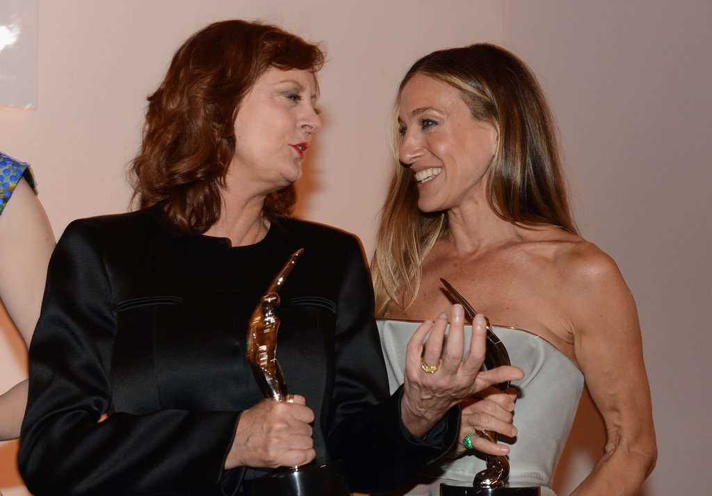 Susan Sarandon and Sarah Jessica Parker mingled at the Elle Women in Hollywood Awards in LA.