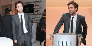 Robert Pattinson Attends Elle's Women in Hollywood Bash to Honour Uma
