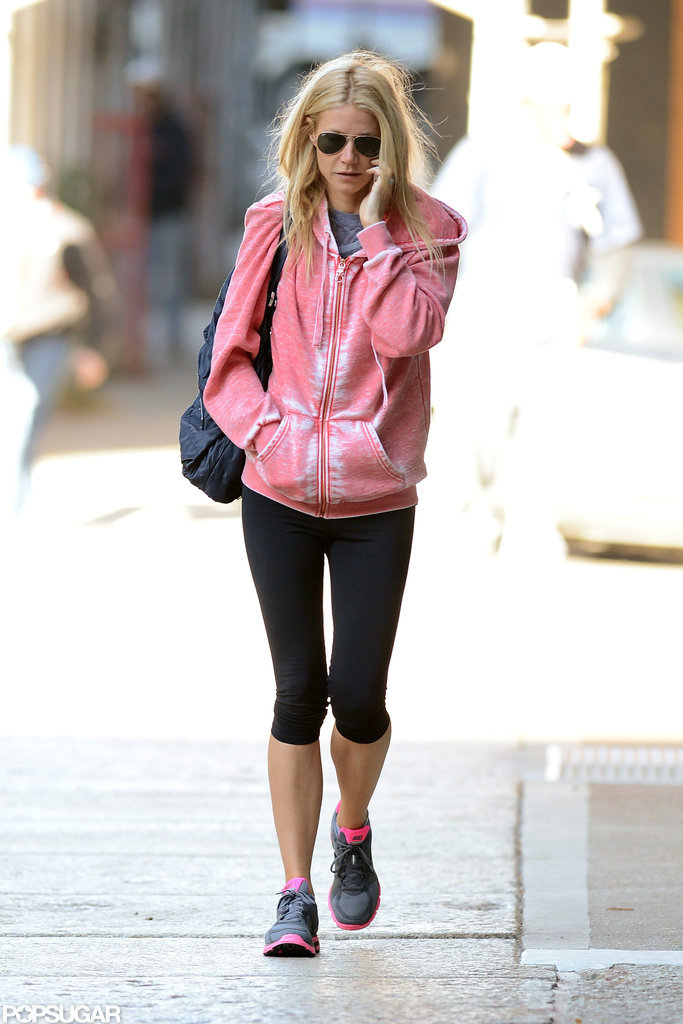 Gwyneth Paltrow wore workout gear in NYC.