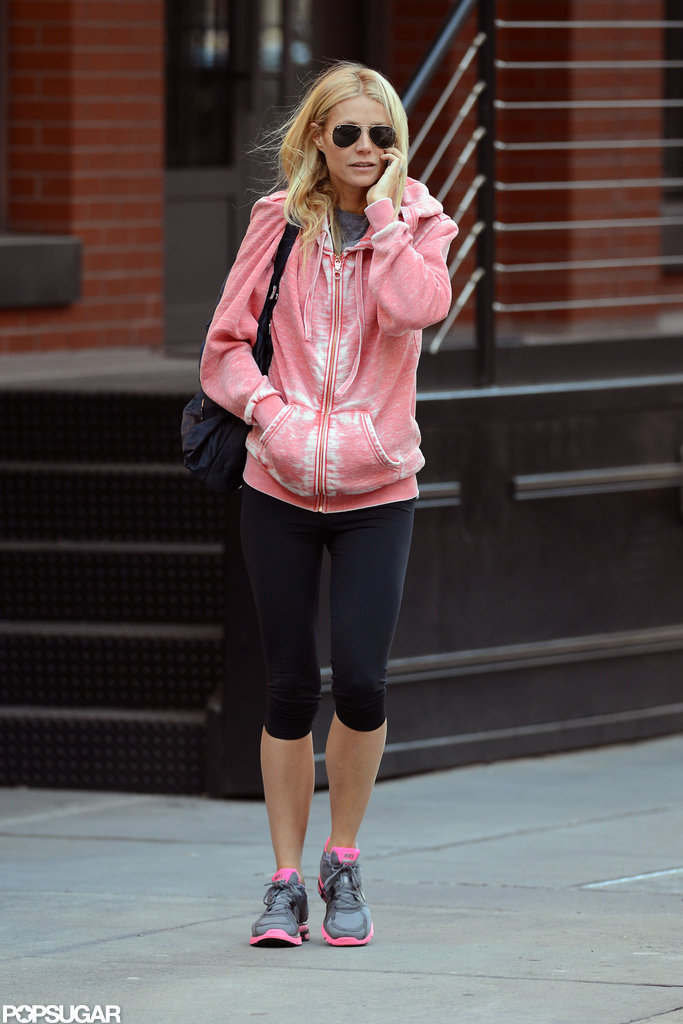Gwyneth Paltrow headed to an NYC gym.