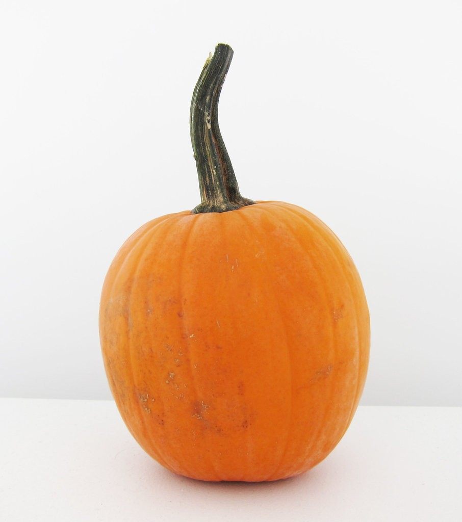 Materials needed: One medium to small-sized pumpkin, studs/embellishments, and metallic spray paint.