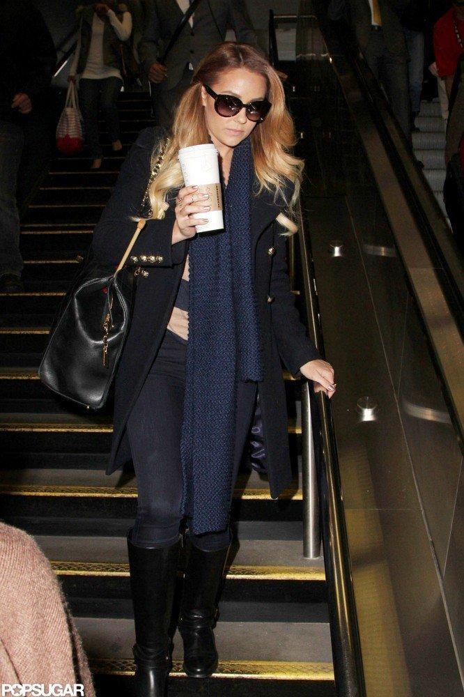 Lauren Conrad walked into Penn Station.