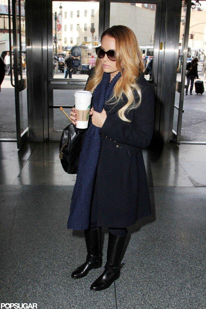 Lauren Conrad went to Penn Station.