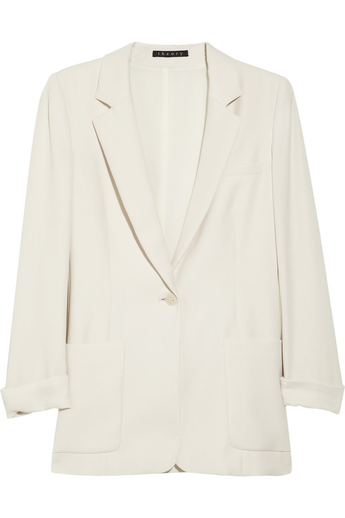 We love the thought of layering this Theory Washed-Crepe Blazer ($415) with a cozy white knit underneath and adding high-waisted denim and a camel-colored belt to channel that impossibly chic, classic Michael Kors vibe.