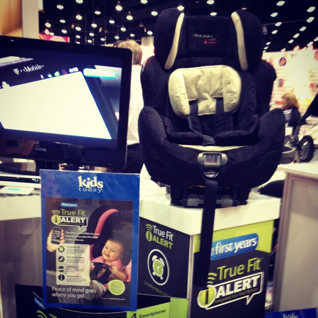 The First Years' eagerly anticipated True Fit Alert car seat will be available in December. It features a monitor that sends data to iOS devices with data about the car seat temperature, if a child unhooks the straps, the seat orientation, and if a child is left in a car (it automatically calls the next caregiver if the first one doesn't answer the call).