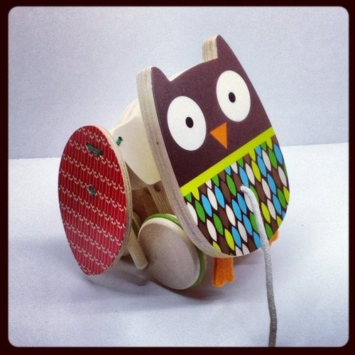 Skip Hop is introducing wooden toys just in time for the holiday season, including this adorable pull owl that flaps its wings.