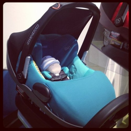 "The Maxi-Cosi Prezi was just released. The infant car seat has an ""easy-out"" harness and an antirebound bar that helps prevent the seat from flying back in the event of a crash."