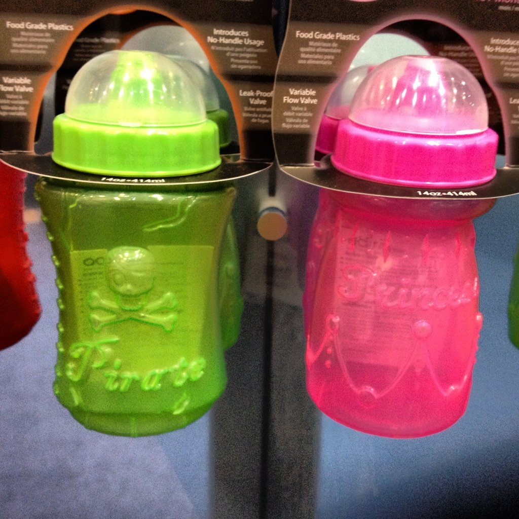 Adiri is introducing fun new sippy cups with pirates and princesses on them.