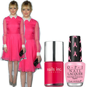 Copy Emma Stone's Pink Valentino Dress With Pink Nail Polish to Support Breast Cancer