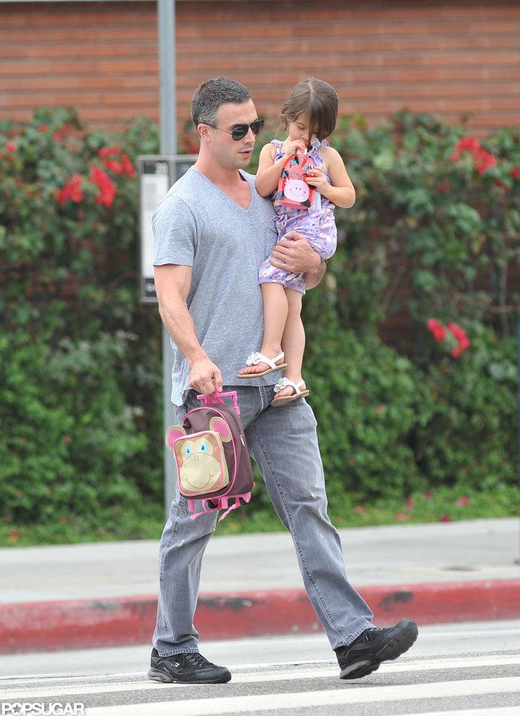 Freddie Prinze Jr. and Charlotte Prinze walked to school in LA.