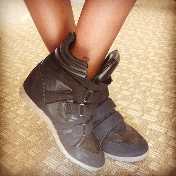 These wedge sneakers — from Target, no less! — added an extra spring in our step on Thursday.