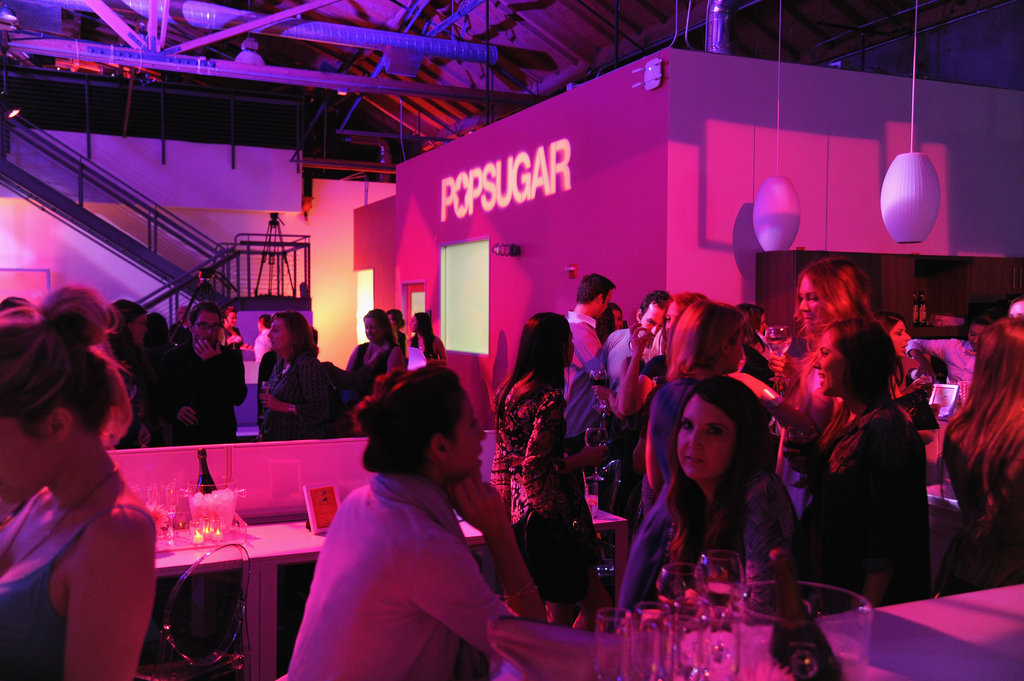 The new PopSugar studios were decked out for Ellie Goulding's performance.