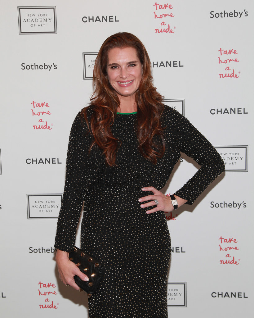 Brooke Shields was in attendance for the Take Home a Nude art auction in NYC.