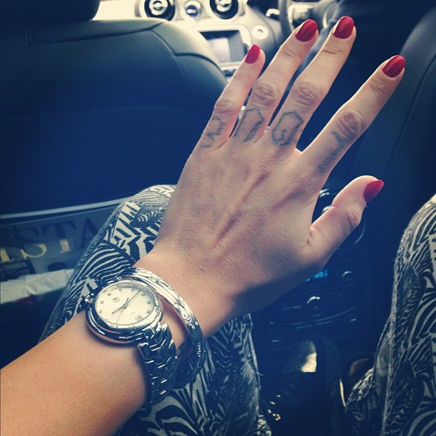 Ruby Rose painted her nails red for love. Source: Instagram user rubyrose86