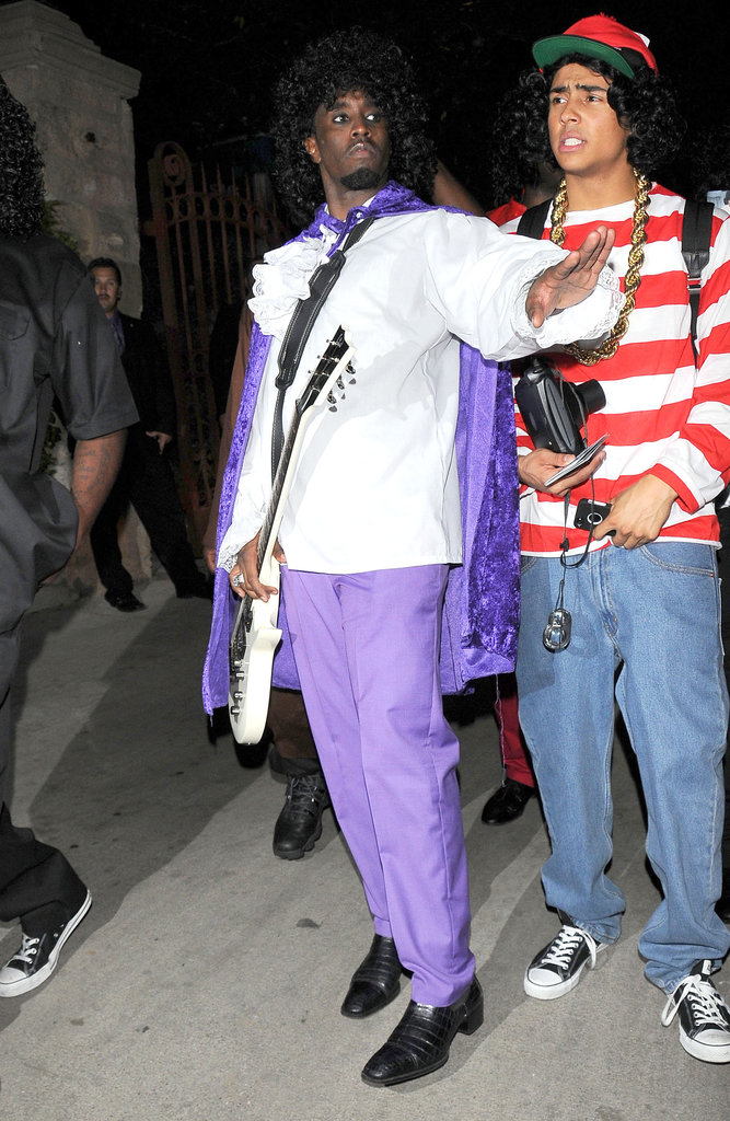 Diddy was in costume on Saturday night at Playboy's LA party.