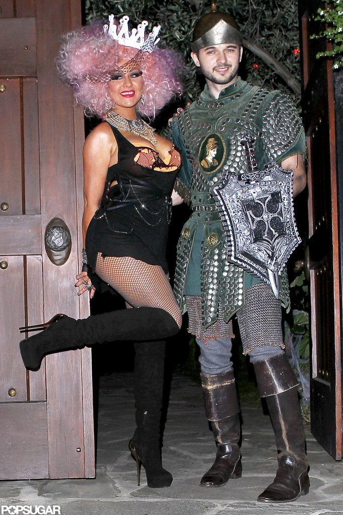 Christina Aguilera and her boyfriend Matthew Rutler headed to a Halloween party in LA Saturday night.