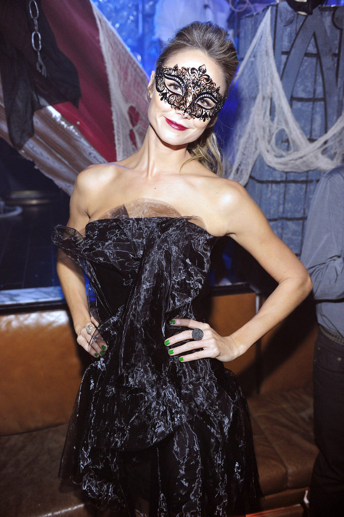 Stacy Keibler hosted a masquerade ball in Las Vegas on Saturday.
