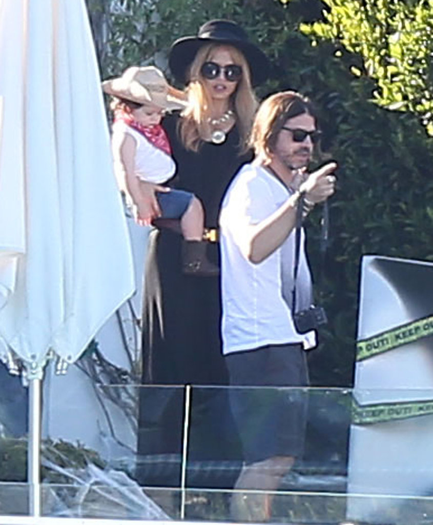 Rachel Zoe and Rodger Berman brought Skyler to Gwen Stefani's LA party on Saturday.