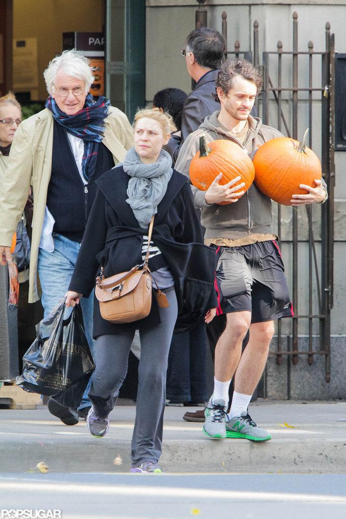 Claire Danes and Hugh Dancy prepared for Halloween in Toronto.