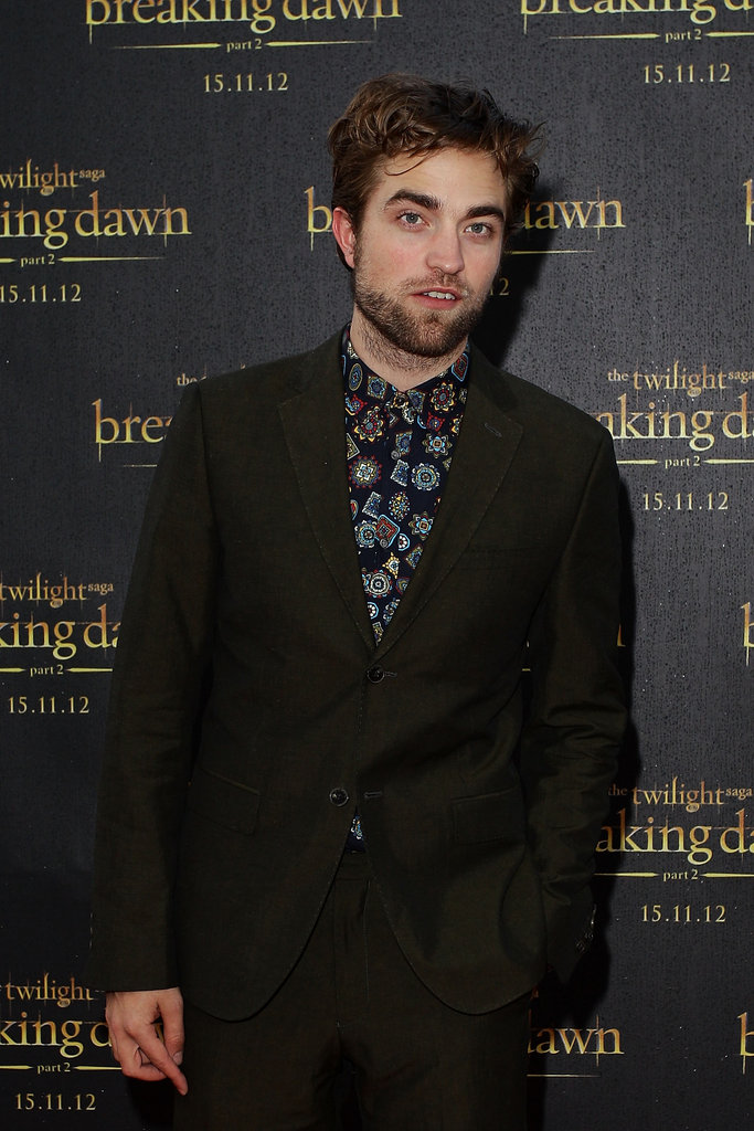 Robert Pattinson was is Sydney to promote Breaking Dawn - Part 2.