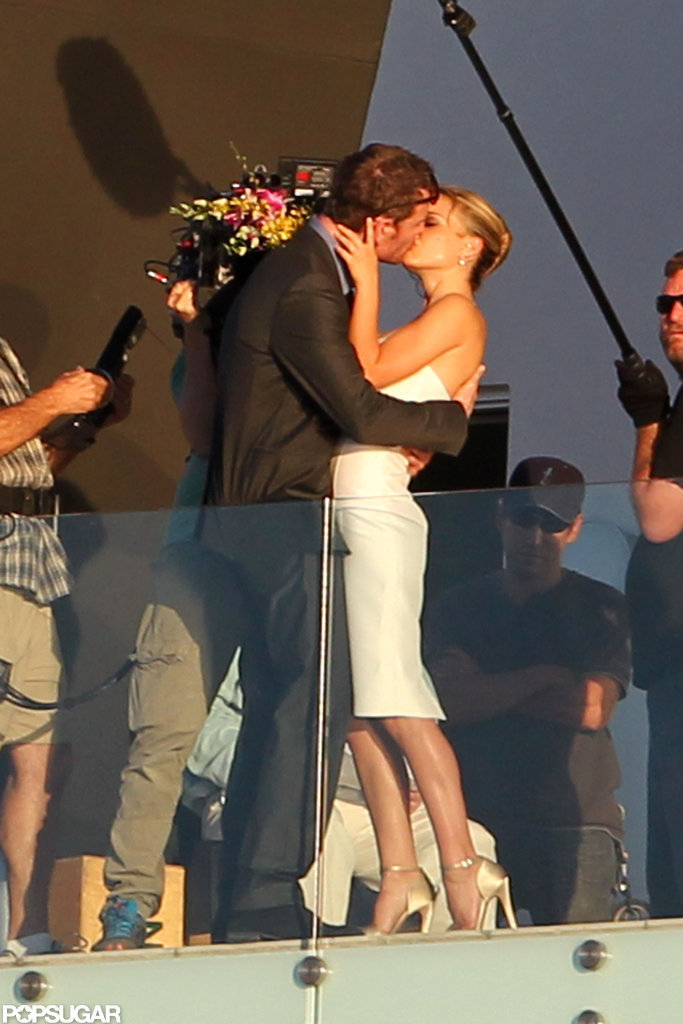 Natalie Portman filmed a scene with Michael Fassbender in Texas.