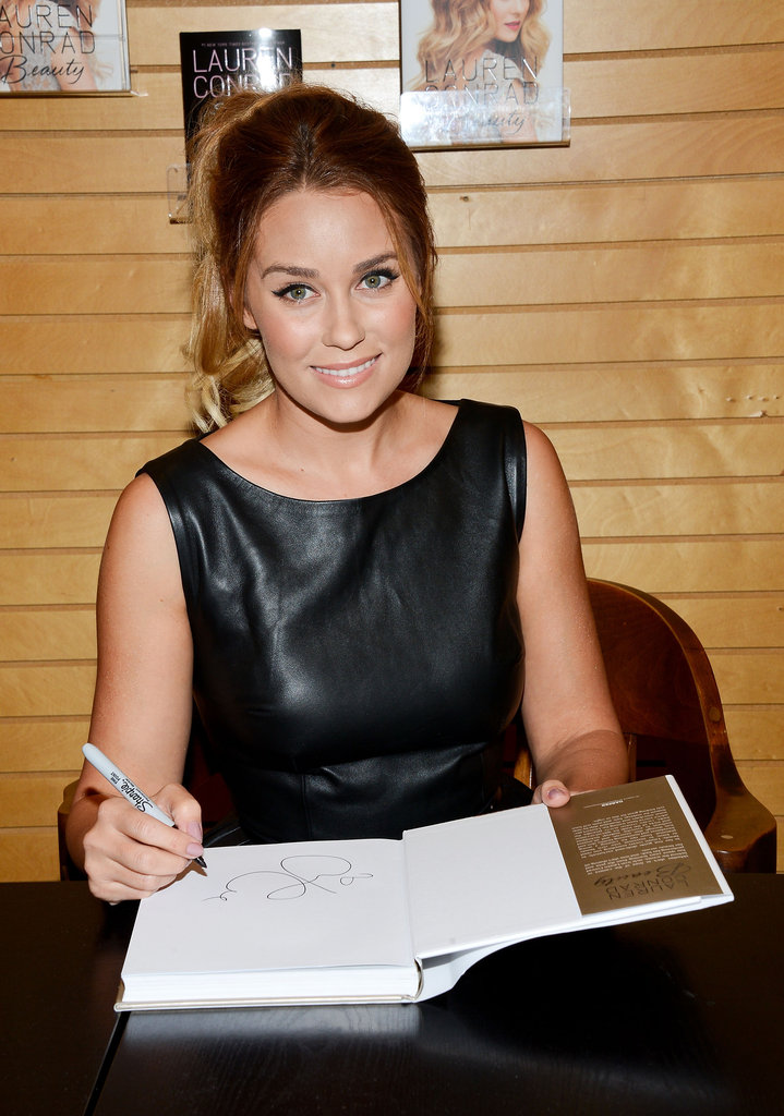 Lauren Conrad signed a copy of her book in LA.