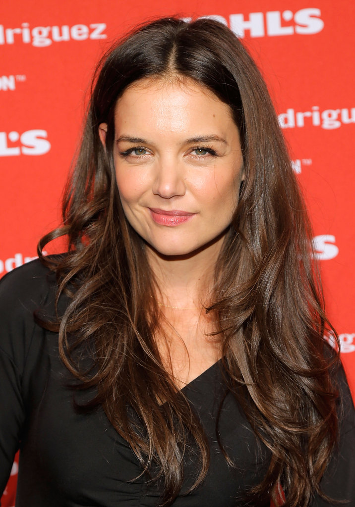 Katie Holmes had a smile on her face in NYC.