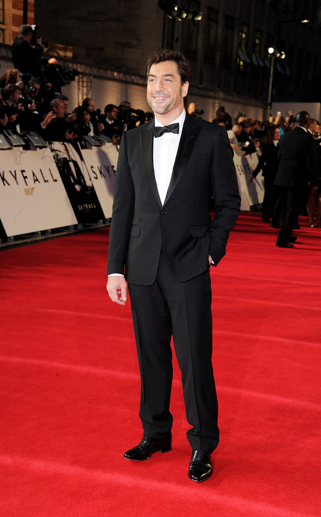 Javier Bardem stepped out for the Skyfall premiere in London.